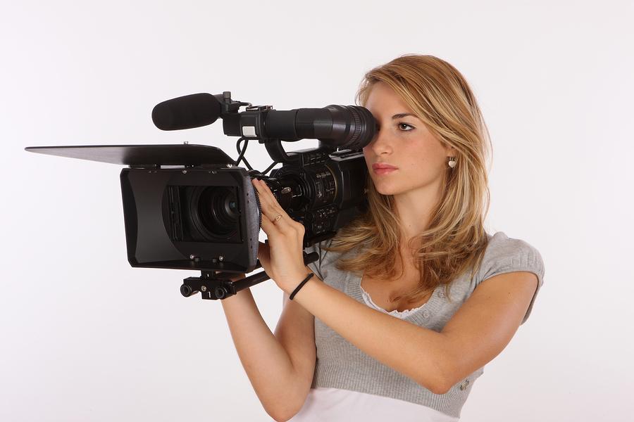 фото девки на камеру